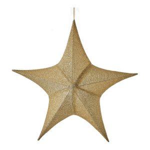 Estrela De Natal Cor Dourado 80X75X26Cm