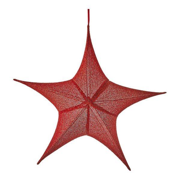 Estrela De Natal Cor Vermelho 80X75X26Cm