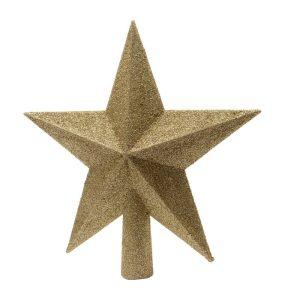 Estrela Dourada Com Purpurina Para Árvore De Natal 4