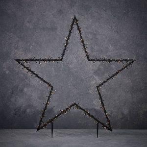 Estrela Para Exterior Com Grinalda De 150 Leds Luz Quente 60
