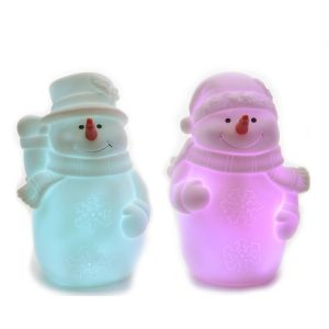 Figura Boneco De Neve Led Toque Suave 3 Pilhas Ag13 13Cm