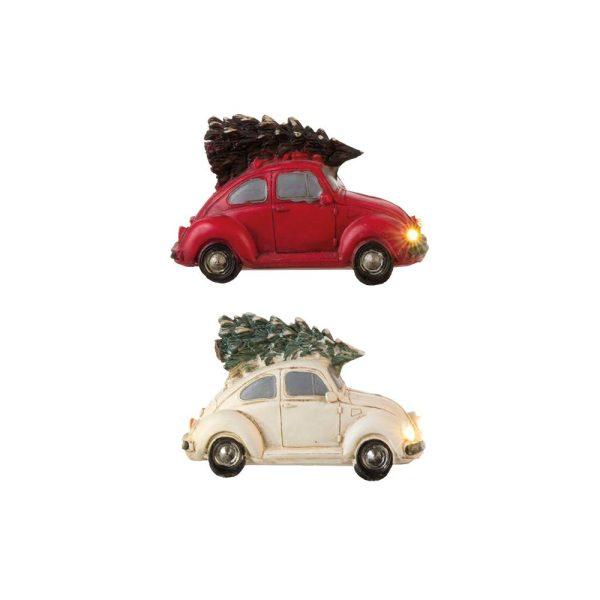 Figura Carro Beetle Com Arvore Cores Sortidos 12X5X6Cm  Eur