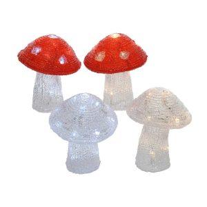 Figura Cogumelo 20 Leds 4 Modelos Sortidos.14X14X17Cm. Uso