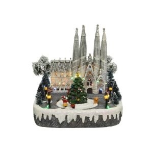 Figura De Natal De Barcelona Com Luz