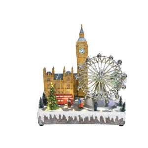 Figura De Natal De London Com Luz