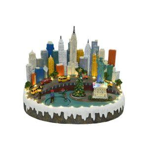 Figura De Natal De New York Com Luz