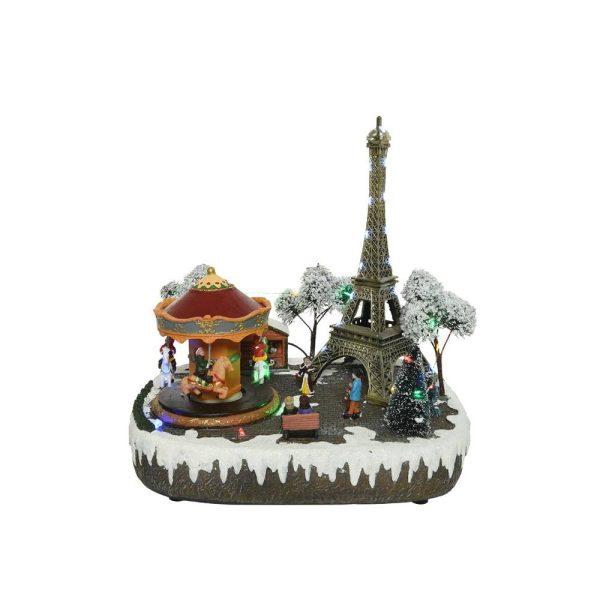 Figura De Natal De Paris Com Luz