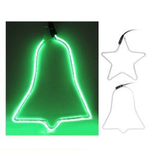 "Figura Em Tubo Verde Flexiled ""Efecto Neon"" Medidas: Sino"