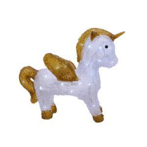 Figura Unicornio Led Acrilico Exterior 3 Pilhas Aa