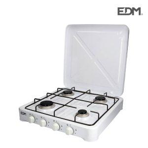 Fogão De 4 Bicos (2X65Mm - 1X50Mm - 1X75Mm) Edm Branco Total