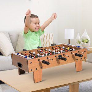 Futebol Mesa Madeira para Crianças +3 anos e Adultos - 69x37x24cm