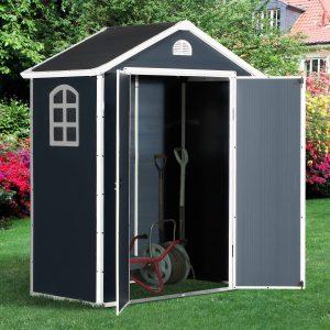 Galpão de jardim Porta dupla Grade Ventilação Janela 190x104x226cm