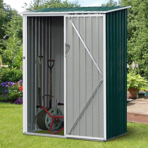 Galpão de jardim com porta com trava 143x89x186cm