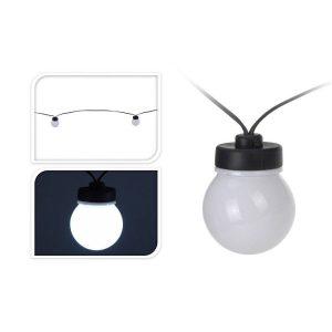 Grinalda Branco Frio Com 20 Lâmpadas Esféricas De Led Fixa