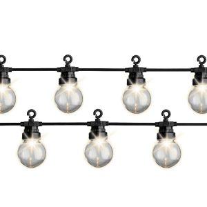 Grinalda Branco Quente 20 Leds Com Lâmpadas Ip44 9