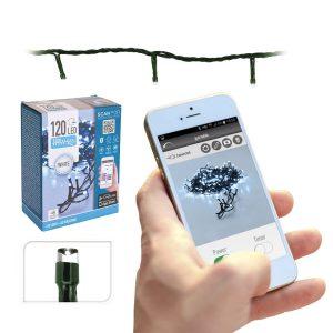Grinalda Controlador App Branco Frio 120 Leds Ip44 15M. Apta