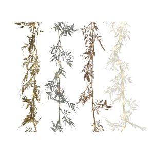 Grinalda Decorativa Folhas Micro Led 150Cm 30 Leds. Cores So