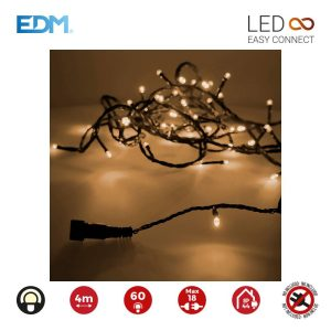 Grinalda Easy-Connect Branco Quente 60 Leds Ip44 Total 1