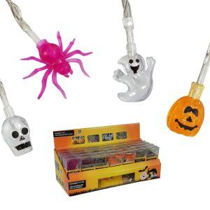 Grinalda Halloween 10 Leds A Pilhas Modelos Sortidos. Funcio