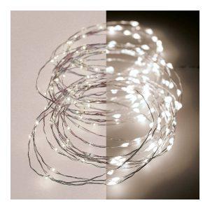 Grinalda Luz Quente Intermitente 180 Micro Leds Ip44 9M. Con