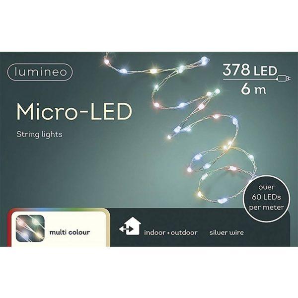 Grinalda Multicor 378 Micro Leds Extra Brilhantes Ip44 6M. C