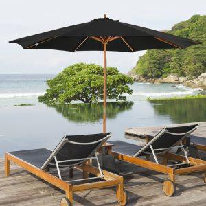 Guarda-sol para cafeteria e jardim ajustáveis e fáceis de transportar Φ300x250cm