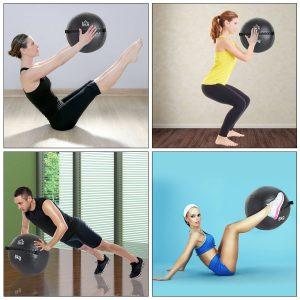 HomCom® Bola Medicinal de Crossfit 8 Kg com Asas Bola de Treino de Couro e PU Ф35cm