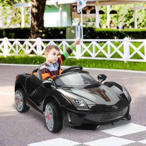 HomCom® Carro Eléctrico de Bateria Preto 130x71x52cm