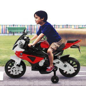 HomCom® Moto Eléctrica Infantil para Crianças 3-8 Anos Batería 12V 2 Motores com Luzes e Sons 110x47x69cm PP