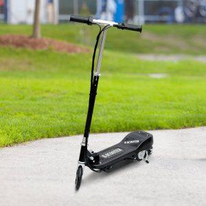 HomCom® Trotinete Eléctrico Dobrável Tipo Scooter com Guiador Ajustável – Cor Preto - 81.5x37x96cm