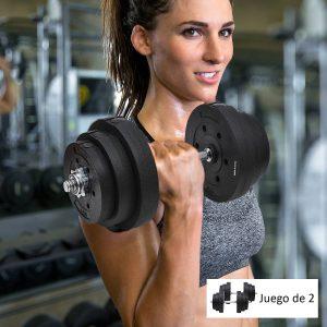 Jogo de Halteres Pesos de Fitness 40KG Ajustável Profissionais Ginásio Doméstico e Musculação com Barra Aço e Discos