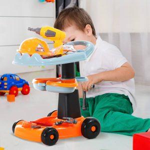 Jogos de Imitação para Crianças Ferramentas de Construção Infantil Conjunto com 29 Peças 40x35x48 cm PP ABS