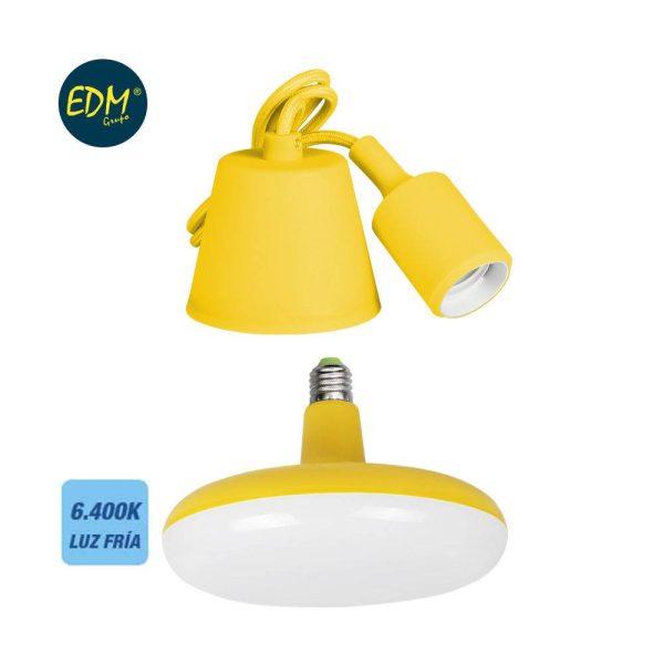 Kit De Cabo Para Suspensão + Lampada Incluida Amarela E27