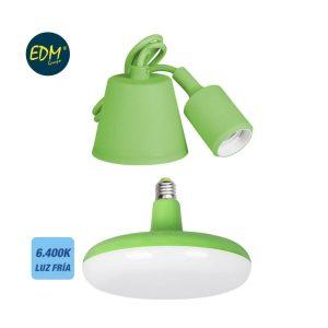 Kit De Cabo Para Suspensão + Lampada Incluida Verde E27 24