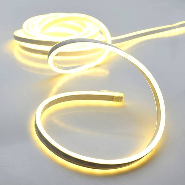 Kit Tubo Neon Branco Quente 120 Leds A Pilhas 1M Smd. Funcio