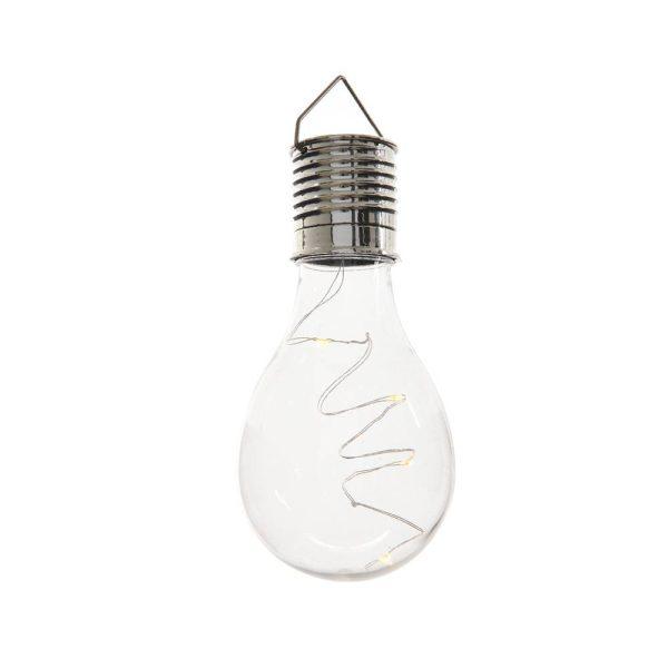 Lâmpada Transparente Led Solar Exterior Inclui Pilha Botão R