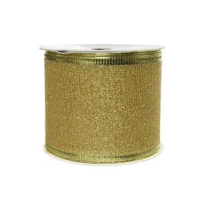 Laço Com Purpurina Dourado 270X6