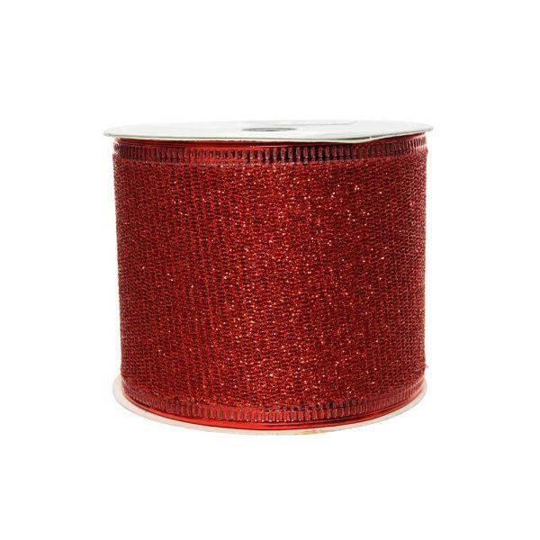 Laço Com Purpurina Vermelho 270X6