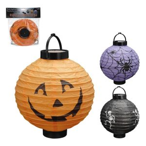 Lanterna Led De Papel Desenhos Halloween