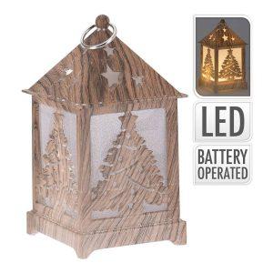 Lanterna Led Talhado Madeira. 4 Modelos Sortidos 1Xcr2032 No