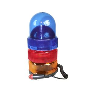 Luz Rotativa Com Base Magnetica 12V 3 Cores