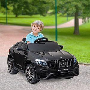 Mercedes AMG Carro elétrico para crianças de acima de 3 anos com controle remoto com música e luzes 12V Carga 30kg 115x70x55cm