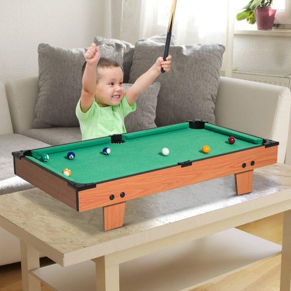 Mesa de Bilhar com Acessórios de Madeira para Crianças +3 Anos de idade e Adultos - 75x41
