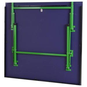 Mesa de Ping Pong Dobrável com Rodas com Patas Ajustáveis para Interior Exterior 274x152.5x76cm de Aço MDF Cor Azul