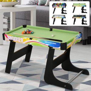 Mesa de vários jogos projeto 4 em 1 pebolin Hóquei Bilhar ping - pong 86.5x43.5x64 cm