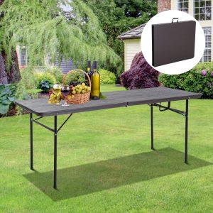 Mesa dobrável portátil para camping ou buffet Tipo Mesa Auxiliar Multifunções leve com alça 180x74x71.5cm