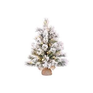 Mini Árvore De Natal Efeito Nevado Com Led Incluído  60X41Cm