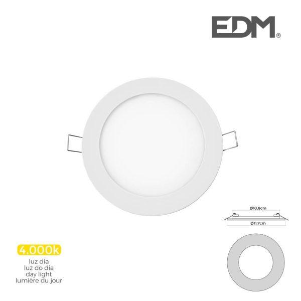 Mini Downlight Led Edm 6W 320 Lumen Redondo 12Cm 4.000K Mold