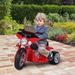 Motocicleta elétrica Carro de triciclo para crianças acima de 18 meses com bateria de metal 6V e PP - 80x43x54