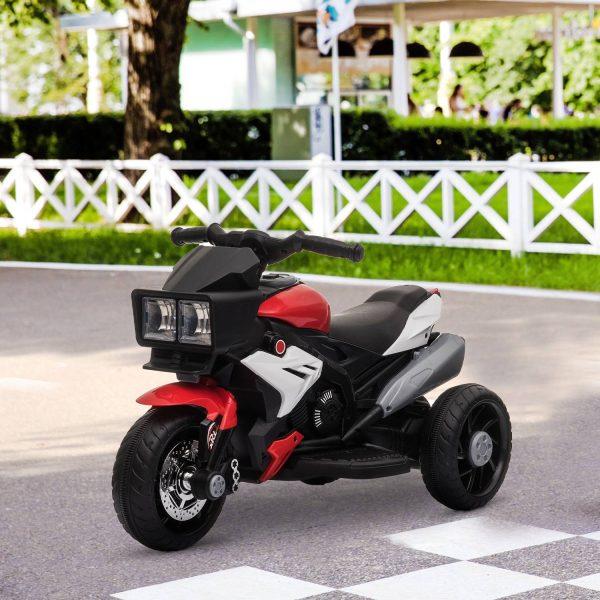 Motocicleta elétrica para crianças acima de 3 anos com luzes música pneus largos 86x42x52 cm